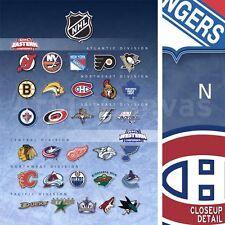 "30""x40"" NATIONAL HOCKEY LEAGUE TEAMS NHL DIVISIONS LOGOS - SPORTS CANVAS"