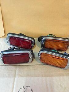 DATSUN 510 240Z 260Z 280Z 120Y B210 Side Marker LIGHT Lamps RED+Amber SET