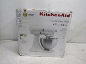 KitchenAid Classic 4.5 Quart Tilt Head Stand Mixer White K45SSWH