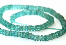 HALF STRAND LIGHT BLUE / GREEN APATITE SMOOTH HEISHI BEADS, 5 MM