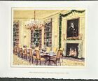 1998 Signed Bill & Hillary Clinton White House Christmas Card