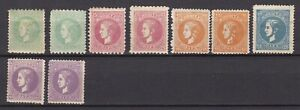 Serbia - 1869/70 - collection - colour variation - types - MH
