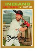 Tyler Naquin 2020 Topps Heritage 5x7 Gold #147 /10 Indians