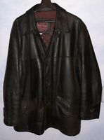 Vintage heavy leather coat by West Bay