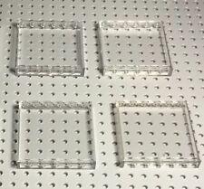 Lego X4 New Trans-clear / Transparent 1x6x5 Panels / City Walls / Window Parts