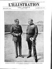 Roi Alphonse XIII d'Espagne & Général Miguel Primo de Rivera ILLUSTRATION 1926