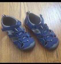 Keen Sandals Kids Boys Girls Size 4 Closed Toe Hiking Sport Water Shoes Blue EUC