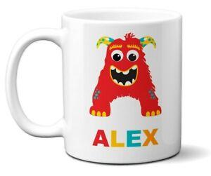 Personalised Little Multi Monster Name Initial Letter Kids Mug Gift 11oz Ceramic