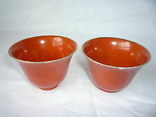 Par De Porcelana China Tazas De Color Liso-Marcas