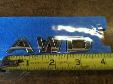 """NEW OEM NISSAN 2008-2013 MURANO OR ROGUE REAR """"AWD"""" EMBLEM FOR REAR GATE"""