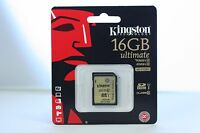 Kingston 16GB 16 GB Ultimate SD SDHC Class 10 UHS-1 Memory Card SDA10/16GB