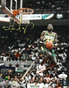 Shawn Kemp signed Seattle SuperSonics NBA 8X10 Photo - JSA- 1990 Dunk Contest