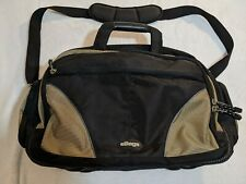eBags Large Black with Gold Trim Nylon Briefcase Laptop Travel Shoulder Bag 17