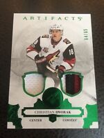 2017-18 UD Artifacts Jersey Patch Christian Dvorak