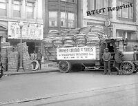 Photograph Amalgamated Vintage Tire Store Washington DC Year 1921   8x10