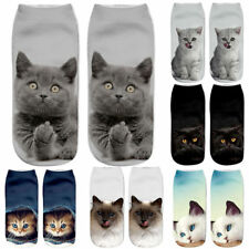 1 Pair Unisex Cartoon Socks Cotton 3D Printed Animal Low Cut Ankle Sock Casual