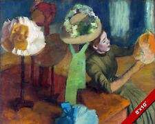 THE MILLINERY WOMEN'S HAT SHOP EDGAR DEGAS PAINTING FRENCH ART REAL CANVAS PRINT