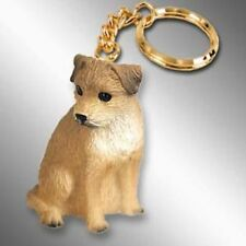 Border Terrier Dog Tiny One Resin Keychain Key Chain Ring
