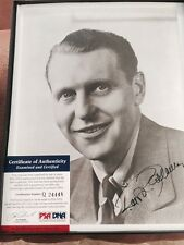 PSA/DNA SIGNED 8X10 PHOTO  RALPH BELLAMY  AUTOGRAPHED