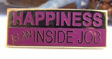 Alcoholics Anonymous AA NA Happiness Lapel Hat Vest Pin Recovery Sobriety