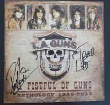 Phil & Tracii L.A. Guns Signed Autographed 12X12 Fistful Photo Psa Guaranteed
