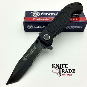 Smith & Wesson CKTACBS Tactical Pocket Knife LinerLock Tanto Duel Edge Blade EDC