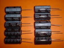 10x TEAPO Elko 15.000µF / 6,3V 105°C 18x36mm 15000uF