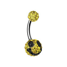 Smiley Multi-Sprinkle Dot Belly Button Ring