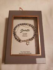 Believe by Brilliance Fine Silver Plated Genuine Stone Bracelet