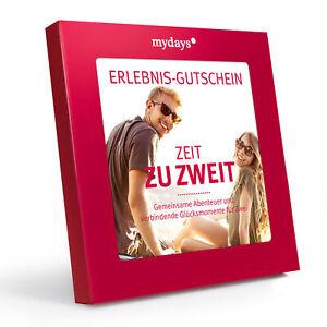 """mydays """"Zeit zu zweit"""" Erlebnis-Gutschein , romantische Geschenke für Paare"""
