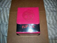 Ultra Pro Premium Flip Deck Box Pink Skull Magnetic Leather-like holds 100 cards
