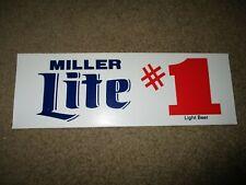 "MILLER LITE #1 Classic Vintage 11.75X4"" STICKER decal craft beer brewery"