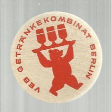B SOTTOBICCHIERE BEER COASTER MATS BIERDECKEL BIRRA GETRANKE KOMBINAT BERLIN