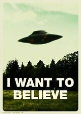 POSTER X FILES I WANT TO BELIEVE VOGLIO CREDERCI ALIEN UFO ALIENI SERIE TV