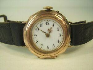 Antike Armbanduhr 333 Gold um 1910