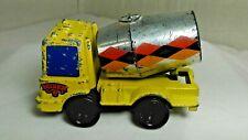 Yellow Cement Mixer Truck 1979 by Mattel Made in Hong Kong has Road Wear