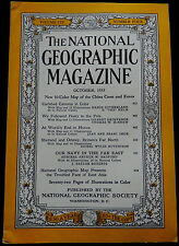 National Geographic Magazine October 1953  COCA-COLA, PEARY TO POLE, NAVY, HUNZA
