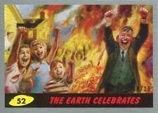 Mars Attacks The Revenge Silver [10] Base Card #52 The Earth Celebrates