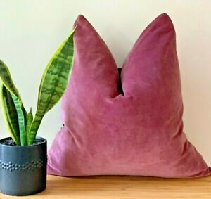 Solid Cotton Velvet Throw Pillowcase Cushion Cover Home Sofa Couch Car Bed Decor