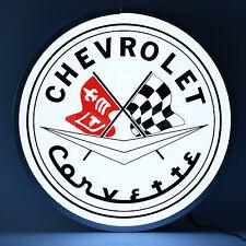"Chevrolet Corvette Back Lit Led Sign - Chevy - Racing - C1 -C7 - Lamp - 15"""