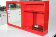Retro RED CAROMA Bathroom Mirror / Vanity Unit Cabinet
