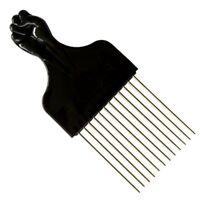 Afro Metal Comb Pik Black Fist Metal African Hair Pik *NEW*