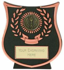 Emblems-Gifts Curve Bronze Victory Torch Plaque (Da) Trophy With Free Engraving