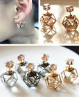 For Women Crystal Latest Geometric Contracted Stud Earrings Alloy 1Pair Hollow