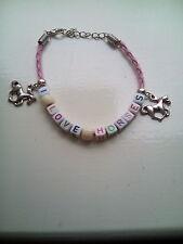 """""""i love horses"""" bracelet"""