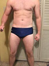 Used Speedo Men's Bathing Suit Navy Blue Size Large 36
