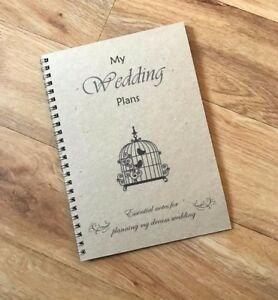 A5 Handmade Bride to be Vintage Wedding Planner Blank Notebook Choice of designs