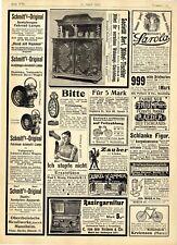 Acetylengas bicicleta-auto-lámpara societät Berliner ebanista relojes Bohemia 1902
