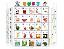 Baby Early Education Chinese Learning Double wall chart pinyin for 0-3 old 12pcs
