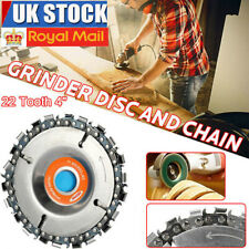 4'' Angle Grinder Disc 22 Tooth Chain Saw Blade for Wood Carving Cutting Tool UK